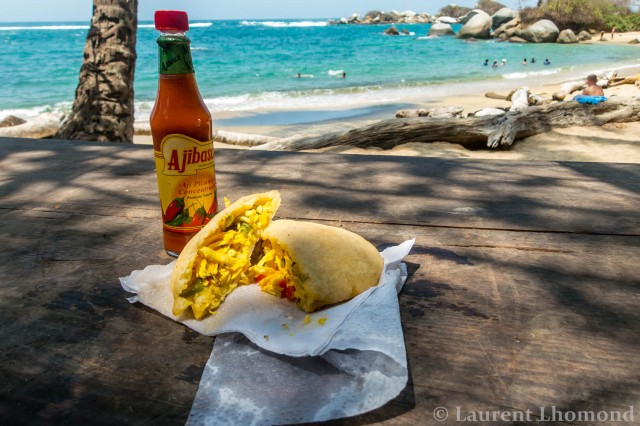 arepas stuffed like a sandwich (with a view)
